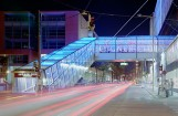 Fußgängerbrücke mit Glasverkleidung - Firma Waagner Biro