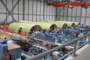 Montagelinie für Airbus - Firma MCE Stahl- und Maschinenbau