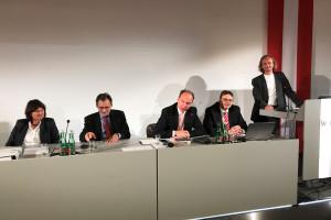 von links: DI Stelzer, Präsident Dr. Berr, GF DI Matzner, DI Meßner, Dr. Luza