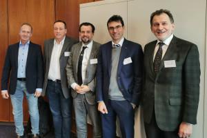 v.l. nach r.: Otmar Burtscher, Markus Winkler, Martin Kopf, Martin Mensinger, Thomas Berr