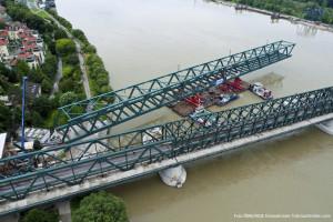 Fachwerkbrücke - Firma MCE Stahl- und Maschinenbau