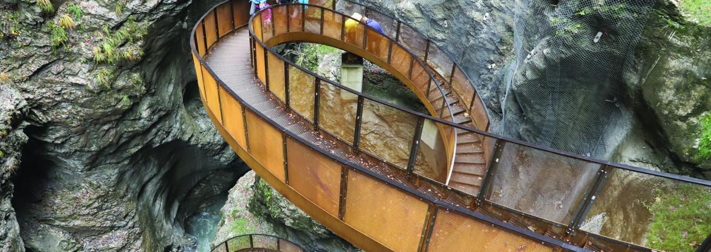 Helix-Treppenanlage Liechtensteinklamm | aste-weissteiner zt gmbh / Architekt Hubert Schlögl / HTB Baugesellschaft m.b.H / SFL Engineering GmbH