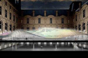 Überdachung Cour Visconti, Louvre - Waagner-Biro Stahlbau